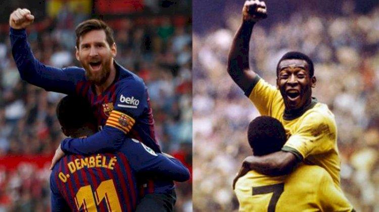 Messi, Pele'nin rekorunu geçmek üzere