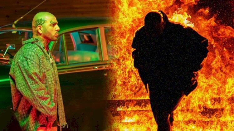 Rap şarkıcısı klip çekilirken yanarak ölüyordu!