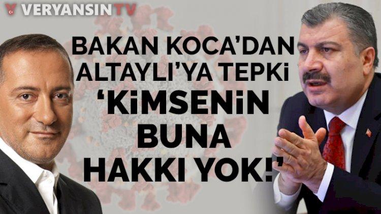 Fahrettin Koca'dan Fatih Altaylı'ya tepki: Kimsenin buna hakkı yok