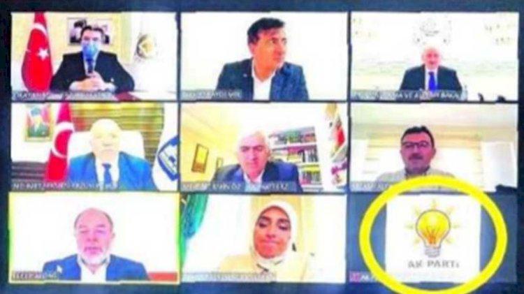 Tartışma yaratan görüntü... Vali toplantısında AKP logosu