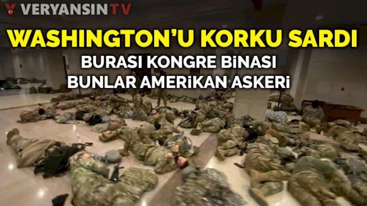 Washington'u korku sardı: Askerler yerde yatıyor