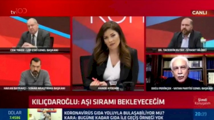 Canlı yayında Perinçek-Toker gerilimi: Haddini bil, otur orada!