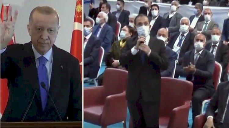 Erdoğan'dan AKP İl Başkanı'na rabia işareti uyarısı