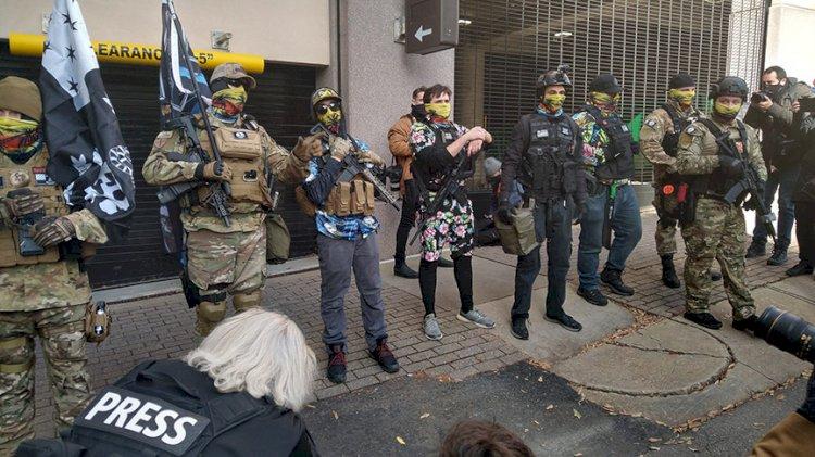 ABD'de silahlı gruplar eylem yaptı