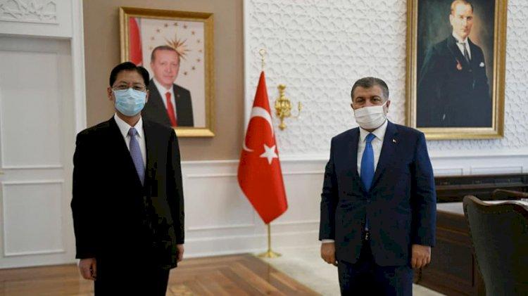 Bakan Koca, Çin Ankara Büyükelçisi Liu Shaobin ile görüştü