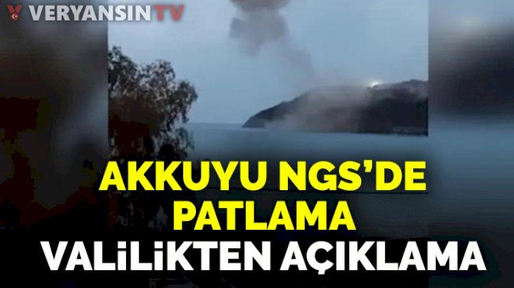 Mersin Valiliği'nden 'Akkuyu NGS'de planlı patlatma' açıklaması