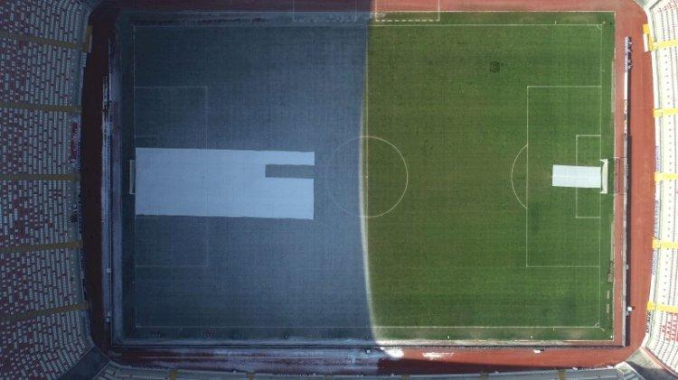 Sivasspor-Fenerbahçe maçı öncesi stattan ilginç görüntü