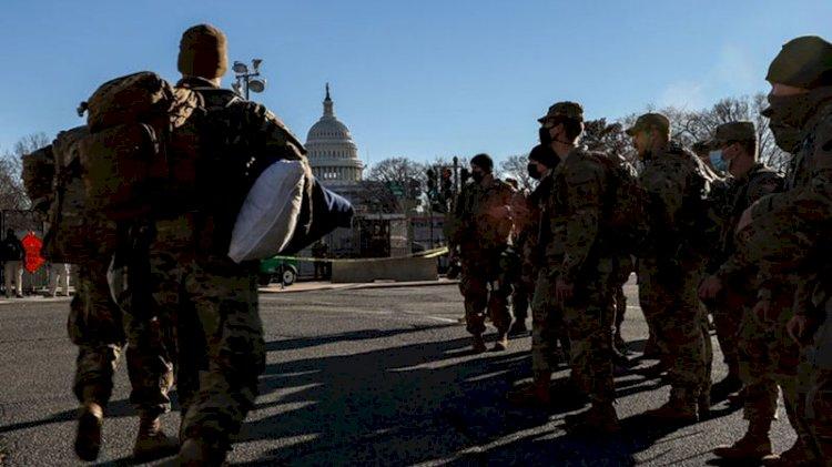 Washington'da Biden'ın yemin töreni için görev yapan 200 civarında Ulusal Muhafız Kovid-19'a yakalandı