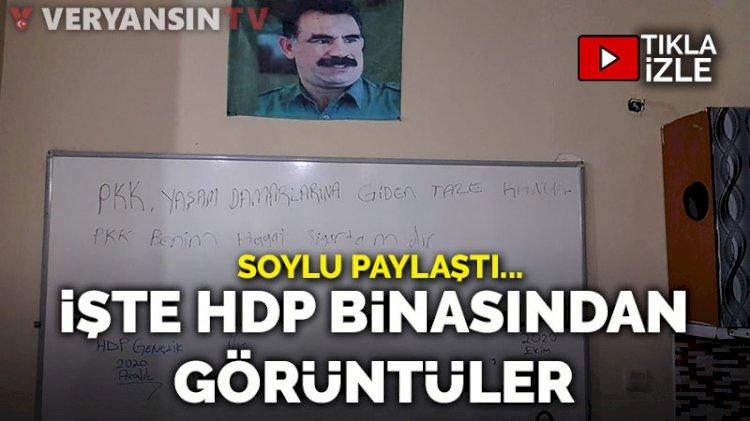 Soylu paylaştı... İşte HDP binasından görüntüler