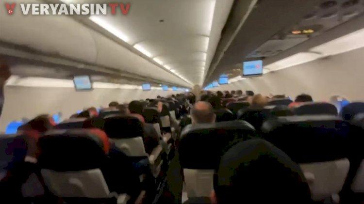 Ankara İstanbul uçağında korku dolu anlar