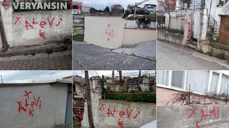Yalova'da kışkırtma... Alevi vatandaşların evlerine işaret