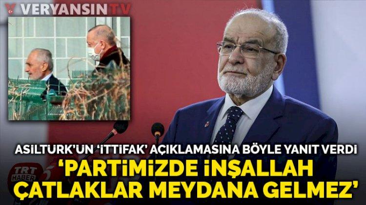 Erdoğan'la görüşen Asiltürk'ün ittifak açıklamalarına Karamollaoğlu'ndan yanıt