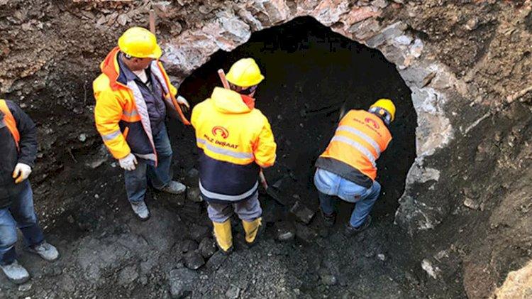 Trabzon'da altyapı kazısında bulunan sarnıcın sırrı çözüldü