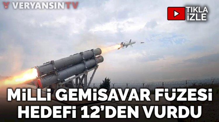 Uzun menzilli gemisavar füzesi 'Atmaca' Sinop'ta test edildi