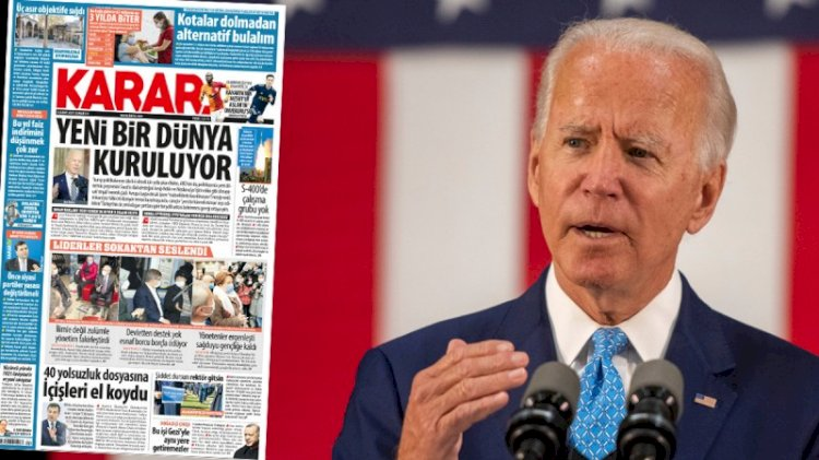 Davutoğlu'nun gazetesi Biden'ın reklam panosu gibi!