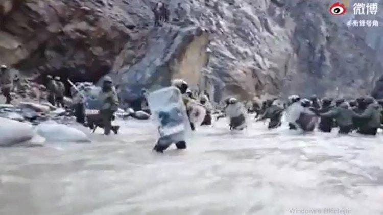 Çin-Hindistan geriliminin görüntüleri yayınlandı