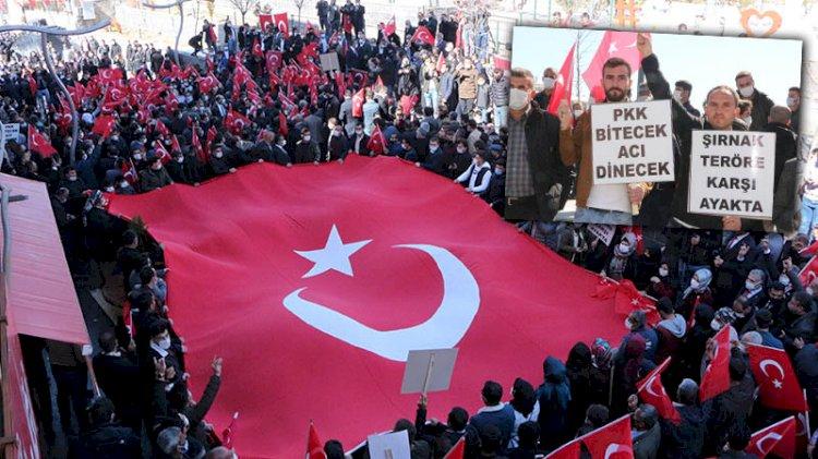 Şırnak'ta 'teröre lanet' yürüyüşü