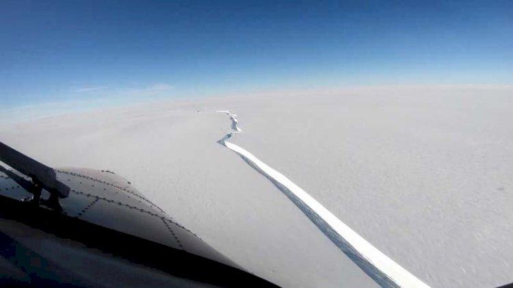 Antarktika'dan korkutan görüntü