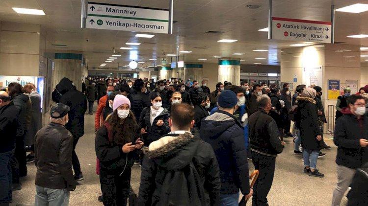 Yenikapı-Bayrampaşa arasında metro seferleri durduruldu