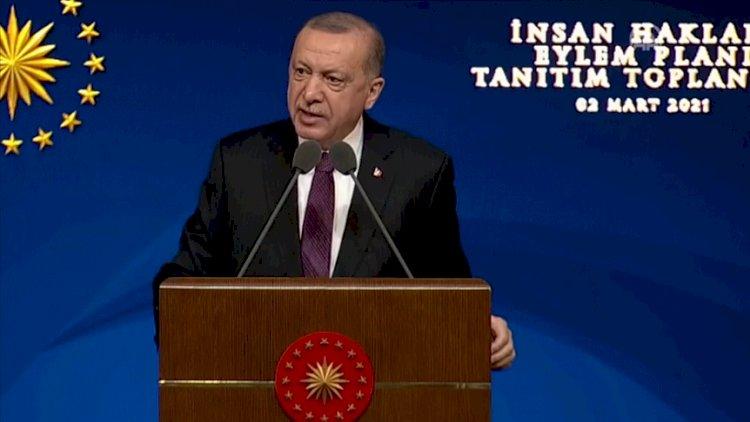 Erdoğan İnsan Hakları Eylem Planı'nı açıkladı: Nihai hedef yeni sivil anayasadır