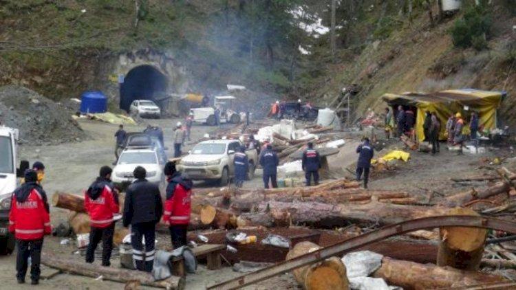 Maden çöktü: Göçük altında kalan işçiye ulaşılmaya çalışılıyor