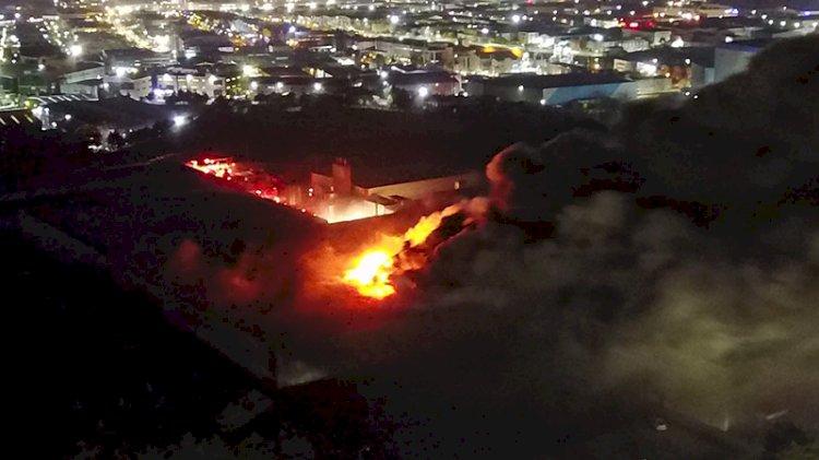 Tuzla'da et üretim tesisindeki yangından acı haber