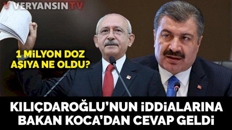 Bakan Koca'dan Kılıçdaroğlu'nun aşı iddialarına yanıt