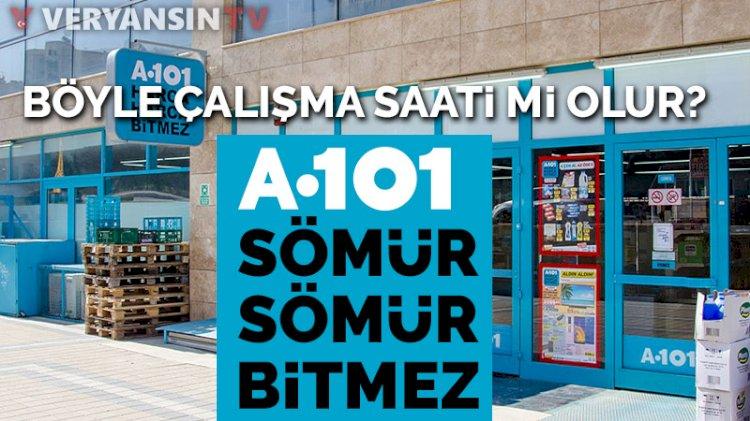 A101 marketlerindeki emek sömürüsüne çalışanlardan tepki