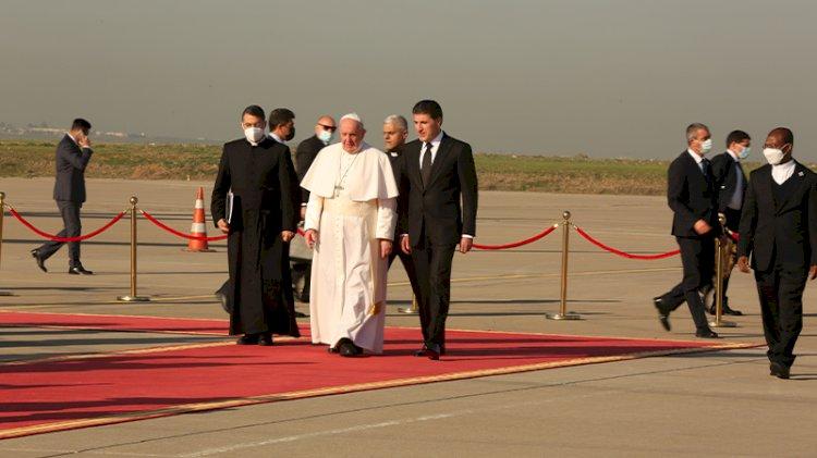 Papa, Barzani ile bir araya geldi