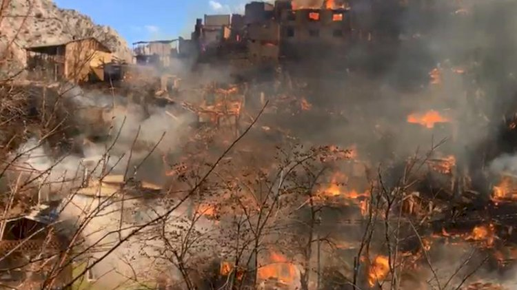 Artvin'de büyük yangın... 60'a yakın ev kül oldu