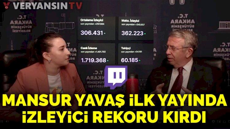 Mansur Yavaş'ın Twitch'teki ilk yayını rekor kırdı!