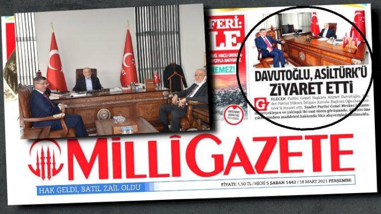Milli Gazete Saadet Partisi lideri Karamollaoğlu'nu sansürledi