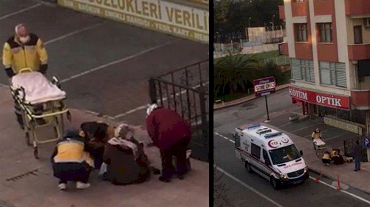 Yabancı uyruklu kadın kaldırımda doğum yaptı