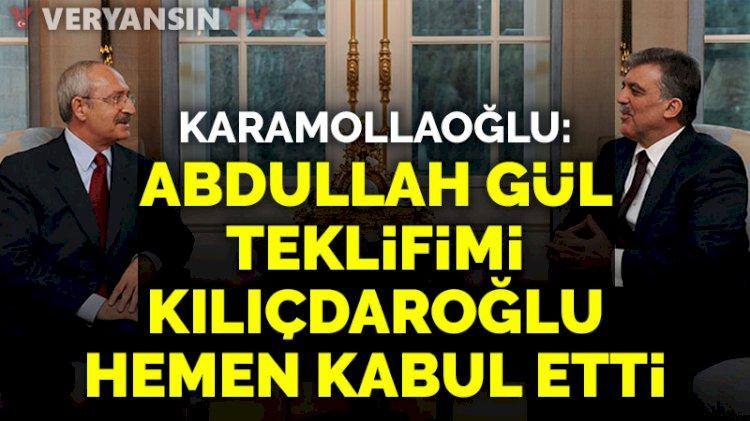 Temel Karamollaoğlu: Abdullah Gül teklifimi, Kılıçdaroğlu hemen kabul etti