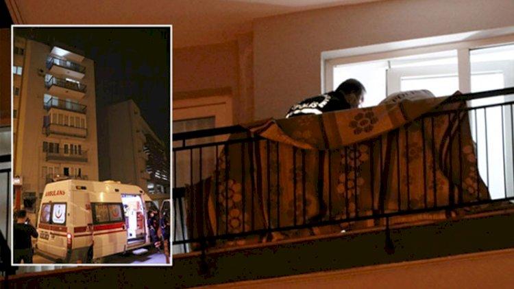 Apartman dairesine çatıdan girip eşini defalarca bıçaklayıp öldürdü