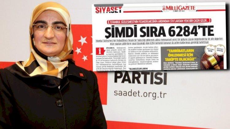 'İstanbul Sözleşmesi kalktı şimdi sıra 6284'te'