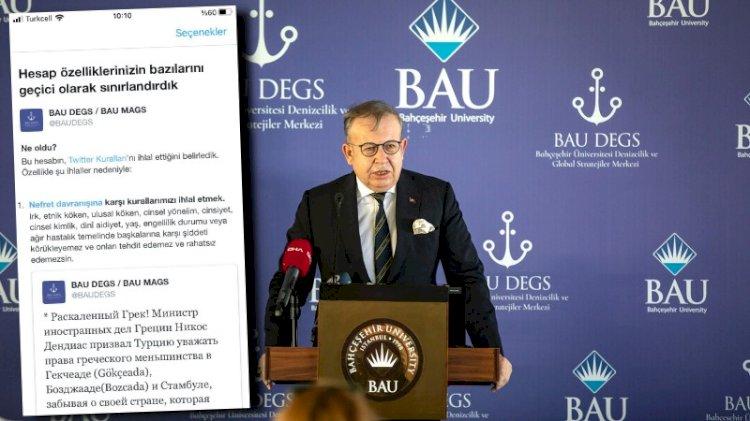 Cihat Yaycı'nın başında olduğu BAU DEGS'ye Twitter engeli