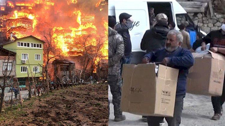 Evleri kül olan yangınzedelerden duygulandıran çağrı: İsraf olmasın, başka ihtiyaç sahiplerine gönderin