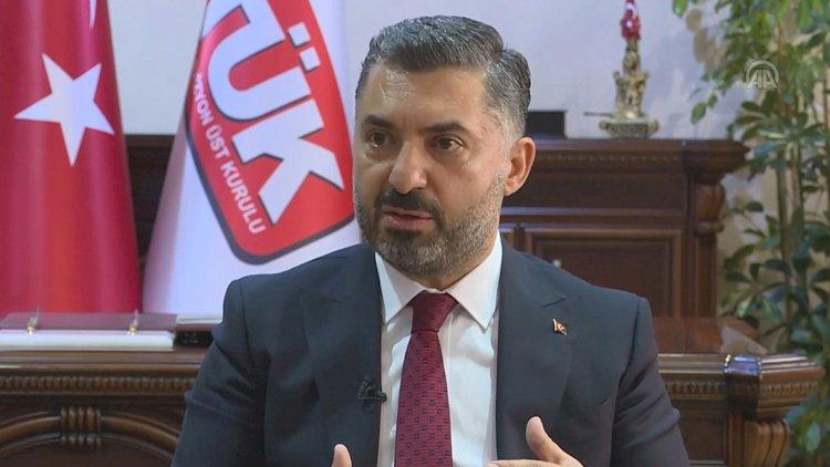 RTÜK Başkanı Şahin: Halk Bankası'ndan da maaş almam yasal ve etik