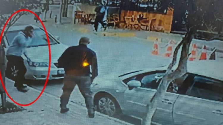 Kaçırılan taksisinin peşine düşmeden önce çayını bitirdi