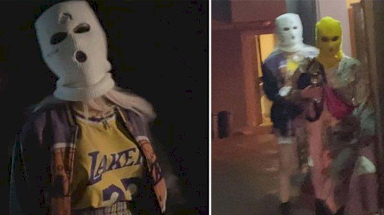 'Kar maskeli' koronavirüs partisine polis baskını