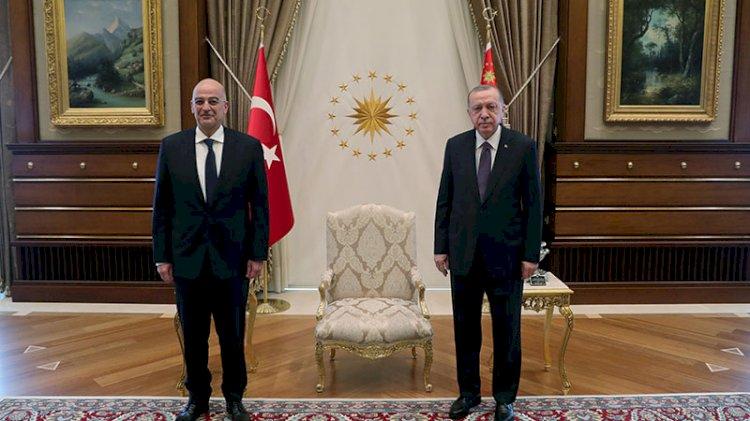 Erdoğan, Yunan bakanı kabul etti