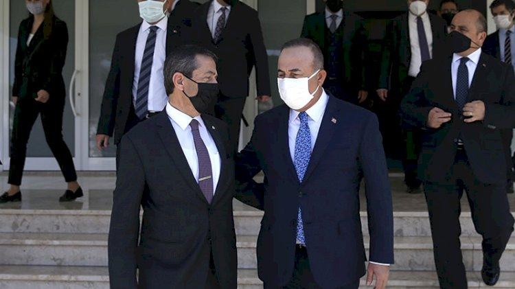 Çavuşoğlu KKTC'li mevkidaşıyla görüştü