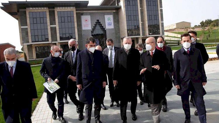 Erdoğan, kendi adıyla Marmara Üniversitesi'ne yapılan 'külliyeyi' inceledi