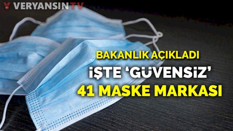 41 maske markası güvensiz ürün olarak tespit edildi