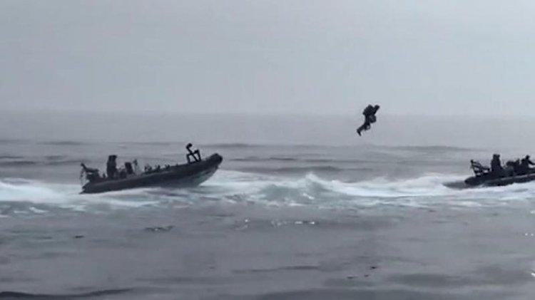 İngiliz donanmasından 'sırt roketli' tatbikat