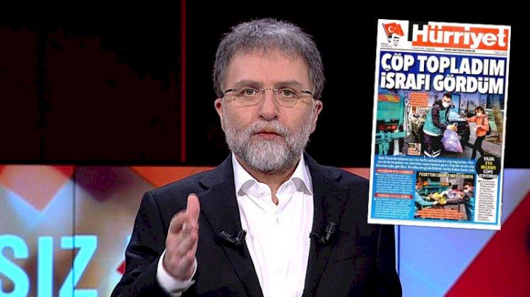 Ahmet Hakan'dan Hürriyet'in 'ısraf' manşetine gelen tepkilere yanıt