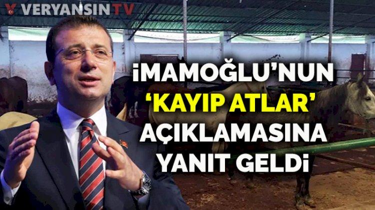 İstanbul İl Tarım ve Orman Müdürlüğü'nden İmamoğlu'na 'kayıp atlar' yanıtı