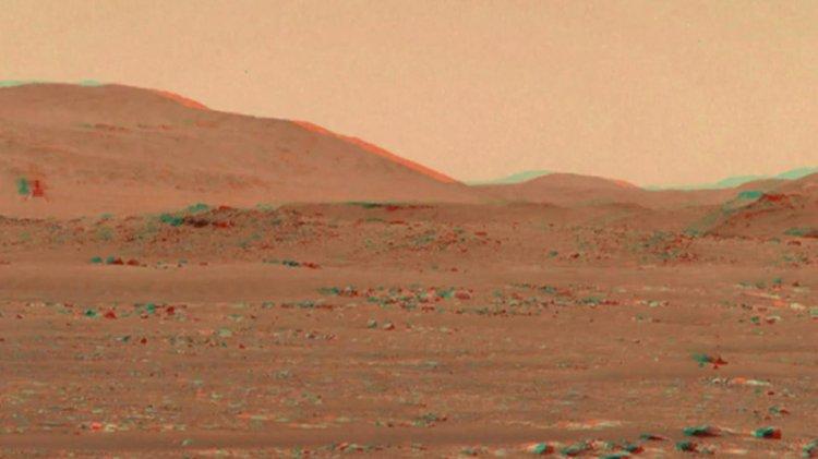 Mars helikopterinin üçüncü uçuşunun 3D videosu yayınlandı