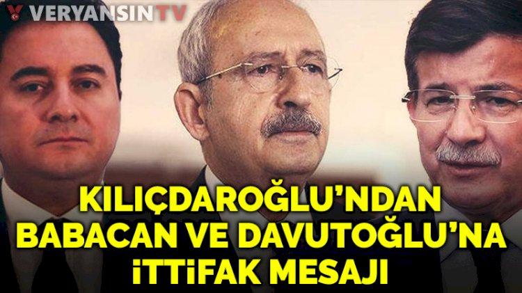 Kılıçdaroğlu'ndan HDP, Ali Babacan ve Ahmet Davutoğlu ile ittifak açıklaması